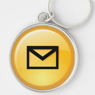 Post-Kasten-Schlüssel Keychain Silberfarbener Runder Schlüsselanhänger