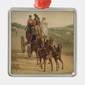 Post-Zug Silbernes Ornament