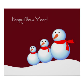 Postar in der Art des neuen Jahres Plakat
