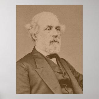 Postbellum Porträt von Robert-Lee durch Mathew Poster