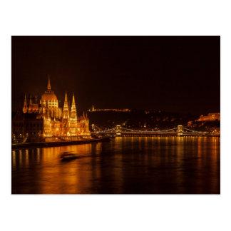 Postcard Budapest Parliament, Hungary Postkarte