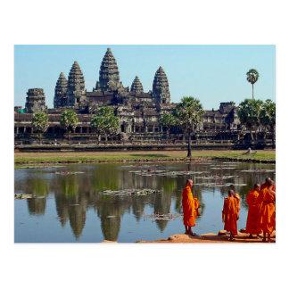 Postcard Buddhists in Angkor Wat, Cambodia Postkarte