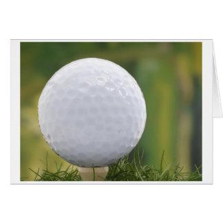 postcard golf ball karte