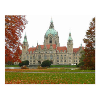 Postcard Hannover Neues Rathaus Herbst, Germany Postkarte