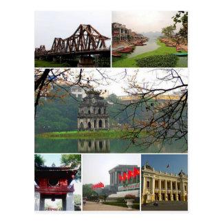 Postcard Hanoi Monuments, Vietnam Postkarte