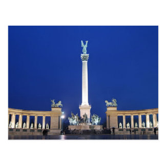 Postcard Millenium Monument in Budapest, Hungary Postkarte