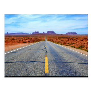 Postcard Road to Monument Valley, Utah, USA Postkarte
