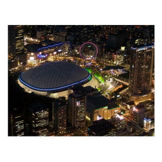 Postcard Tokyo Dome by night, Tokyo, Japan Postkarte