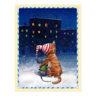 Postcards_Looking an den Stadtlichtern Postkarte