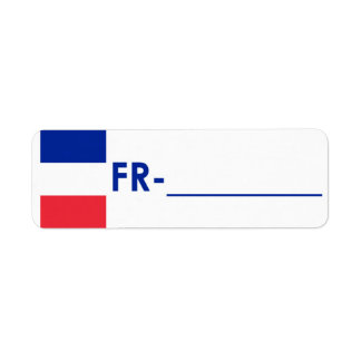 Postcrossing Identifikations-Aufkleber Frankreich  Rückversand-Adressaufkleber