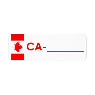 "Postcrossing Identifikations-Aufkleber Kanada ""Fla"