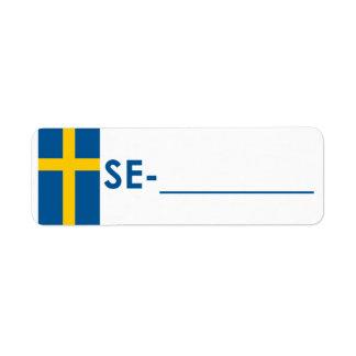 "Postcrossing Identifikations-Aufkleber Schweden ""F"