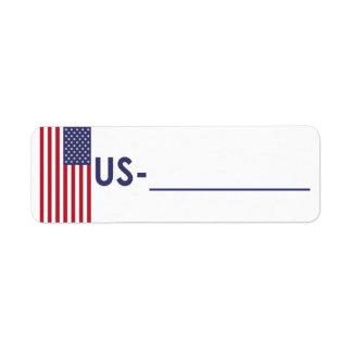"Postcrossing Identifikations-Aufkleber USA ""Flagge"