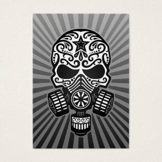 Posten-apokalyptischer Zuckerschädel, grau Visitenkarte