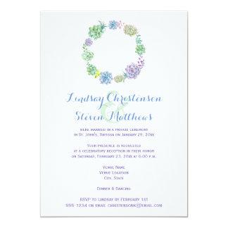 Posten-Hochzeits-Einladung| Succulents u. Sand 2 12,7 X 17,8 Cm Einladungskarte