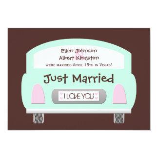 Posten-Hochzeits-Empfangs-Einladung -- Tadelloses 12,7 X 17,8 Cm Einladungskarte