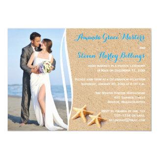 Posten-Hochzeits-Empfangs-nur Foto-Schablone laden 12,7 X 17,8 Cm Einladungskarte