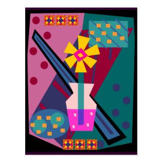 Posten-moderne Mod-Blume Postkarte