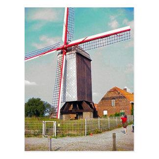 Posten-Mühle an einem Bauernhof Postkarte