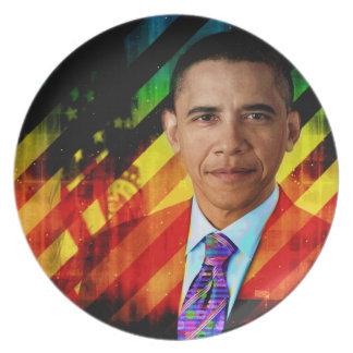 Posten städtischer Obama Teller