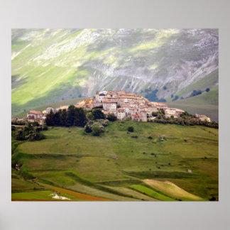 Poster Castelluccio in Umbrien - Italien