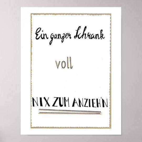 """Poster """"Ein ganzer Schrank..."""""""