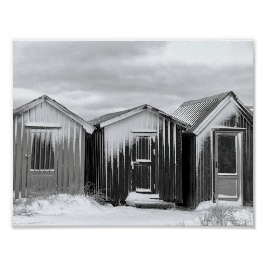 Poster - kleine Hütten