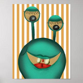 Poster Monster, Kinderzimmerposter, Bild Kinder