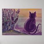 """Poster Motiv """"Lavender Cat"""" aus Archivpapier"""