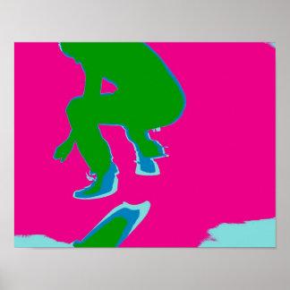 Poster Skater Pop Art
