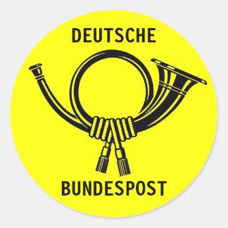Posthorn DEUTSCHE BUNDESPOST yellow#1 Runder Aufkleber