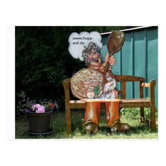 Postkart Hopp-auf Flammkuchenstube Postkarten