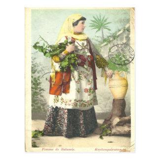 Postkarte 1905 Greek Femme de Salamis