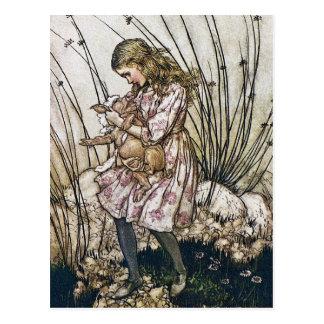 Postkarte: Alice und Märchenland - Schwein u. Pfef