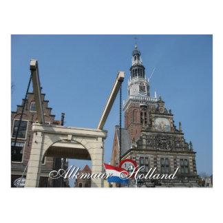 Postkarte Alkmaars Waag (Haus wiegend) Holland