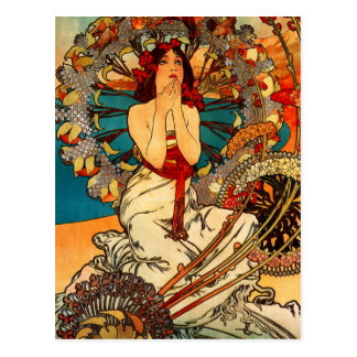 Postkarte Alphonse Mucha Monte Carlo