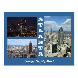 Postkarte Atlantas, Georgia-Stadtbild