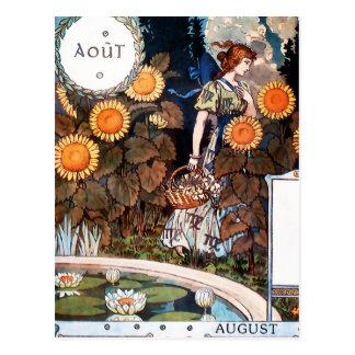 Postkarte:  August Auot Postkarte