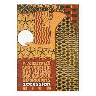 Postkarte: Ausstellung der Sezessions-Kunst--14th Postkarte