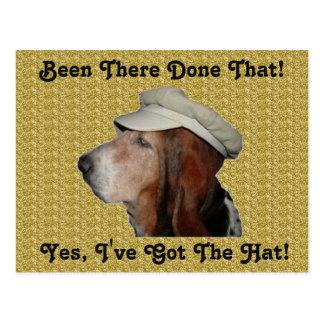 Postkarte Basset Hound ja habe ich den Hut