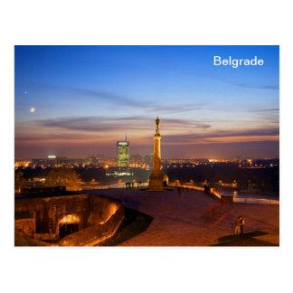 Postkarte Belgrad-Monumentsieger
