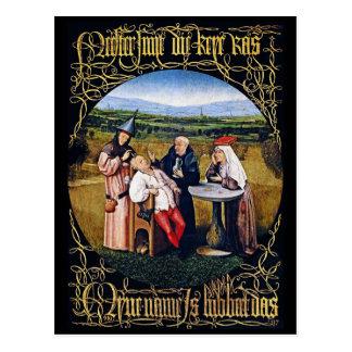 Postkarte: Bosch - Extrahierung des Steins der Postkarte
