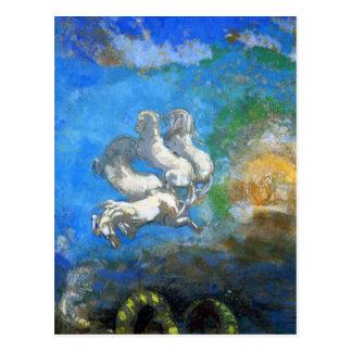 Postkarte: Chariot von Apollo durch Odilon Redon