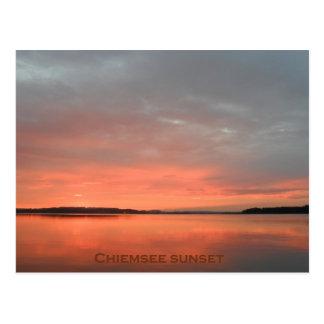 Postkarte chiemsee Sonnenuntergang
