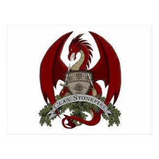 Postkarte Clan Stonefire Wappen-(roter Drache)