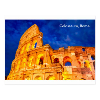 Postkarte Colosseum Dämmerung Rom