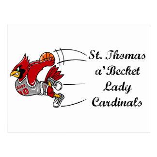 Postkarte Dame Cardinals