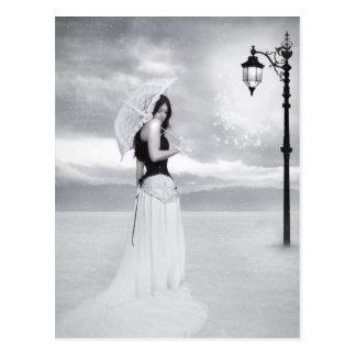 """Postkarte """"Damen-Snowflake"""""""