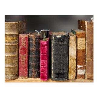 Postkarte der alten Bücher