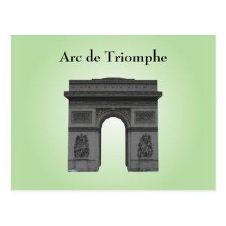 Postkarte: Der Arc de Triomphe Postkarte